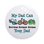 Dad Triathlete Triathlon Ornament (Round)