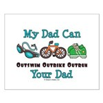Dad Triathlete Triathlon Small Poster