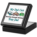 Dad Triathlete Triathlon Keepsake Box