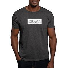 Obama Black Peace. Dark T-Shirt