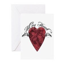 """""""All My Heart"""" Greeting Cards (Pk of 20)"""