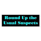 Usual Suspects 1 Bumper Bumper Sticker