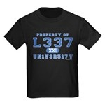 l337 un1v3r51ty Kids Dark T-Shirt