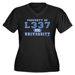 l337 un1v3r51ty Women's Plus Size V-Neck Dark T-Sh
