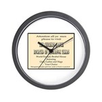 Chicken Ranch Brothel Wall Clock