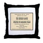 Chicken Ranch Brothel Throw Pillow
