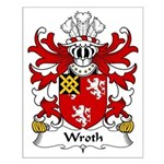 Wroth Family Crest Small Poster