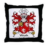Wroth Family Crest Throw Pillow