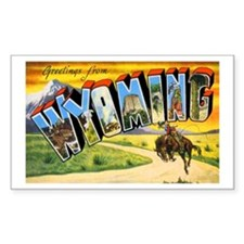 Wyoming Greetings Rectangle Decal