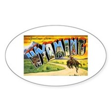 Wyoming Greetings Oval Decal