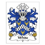 White Family Crest Small Poster