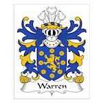 Warren Family Crest Small Poster