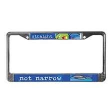 Straight But Not Narrow License Plate Frame