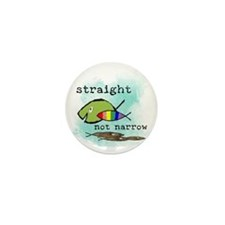 Straight But Not Narrow Mini Button (100 pack)