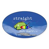 Straight But Not Narrow Oval Bumper Stickers