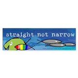 Straight But Not Narrow Bumper Car Sticker