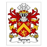 Tywyn Family Crest Small Poster