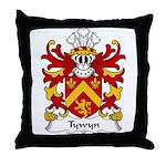 Tywyn Family Crest Throw Pillow