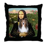 Mona Lisa's Sheltie (S) Throw Pillow