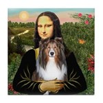 Mona Lisa's Sheltie (S) Tile Coaster