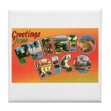 Puerto Rico Greetings Tile Coaster