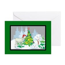 Santa Goat Christmas Greeting Cards (Pk of 10)