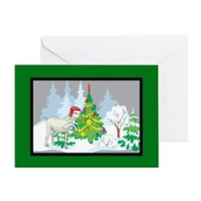 Santa Goat Christmas Greeting Card