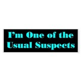 Usual Suspects 2 Bumper Bumper Sticker