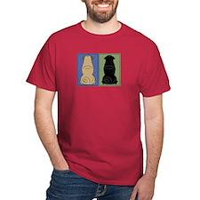 Sit Front Pugs T-Shirt