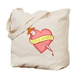 Tattoo Heart Tote Bag