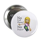 "No Cell Phone 2.25"" Button (100 pack)"
