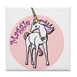 Maggie Unicorn Tile Coaster
