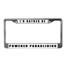 Powered Paragliding License Plate Frame