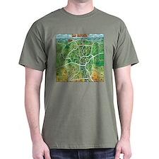 San antonio texas cartoon map T-Shirt