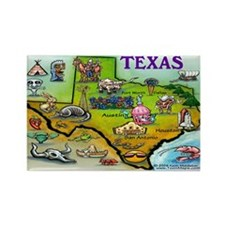 Cute Dallas texas Rectangle Magnet (10 pack)