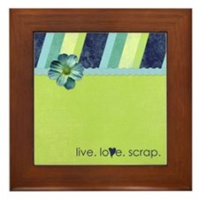 """live. love. scrap."" Framed Tile"