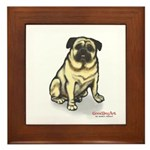 PUG MUG Framed Tile