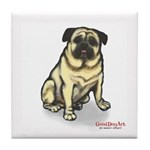 PUG MUG Tile Coaster
