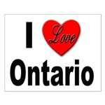 I Love Ontario Small Poster