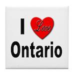 I Love Ontario Tile Coaster