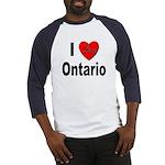 I Love Ontario (Front) Baseball Jersey