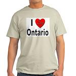 I Love Ontario (Front) Ash Grey T-Shirt