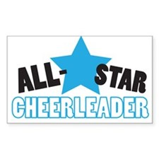 All-Star Cheerleader Rectangle Decal