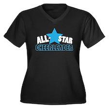 All-Star Cheerleader Women's Plus Size V-Neck Dark