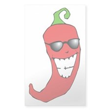 Cool Chili Pepper Rectangle Decal