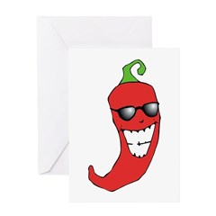 Cool Chili Pepper Greeting Card