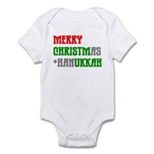 """Merry Christmukkah"" Infant Bodysuit"