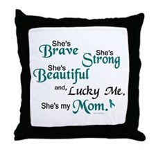 Lucky Me 1 (Mom OC) Throw Pillow