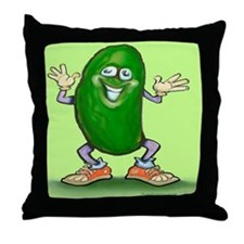 Funny Cucumbers Throw Pillow