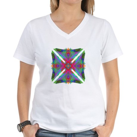 Kaleidoscope 000 Women's V-Neck T-Shirt